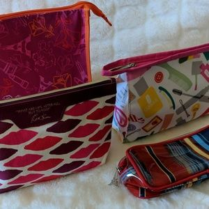 Estee Lauder and Clinique cosmetic bags